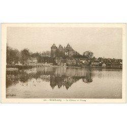 carte postale ancienne 35 COMBOURG. Château Etang 491