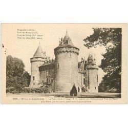 carte postale ancienne 35 COMBOURG. Château Tour