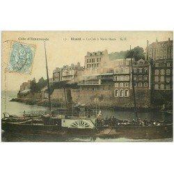 carte postale ancienne 35 DINARD. La Cale à Marée Haute 1905 Restaurant Bellevue