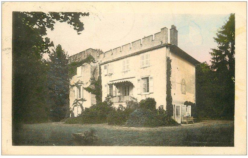 carte postale ancienne 01 PONT-DE-VAUX. Château de Vernay 1949