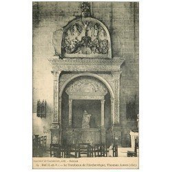 carte postale ancienne 35 DOL. Tombeau Archevêque James