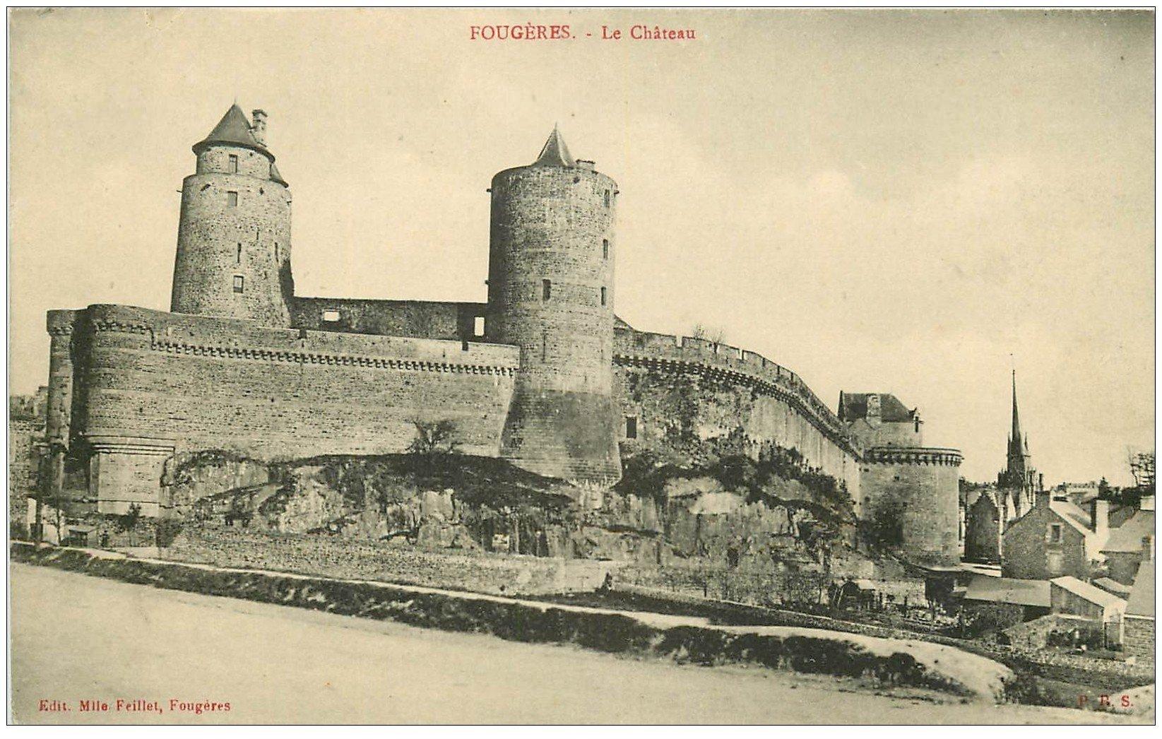 carte postale ancienne 35 FOUGERES. Château. Ed Feillet