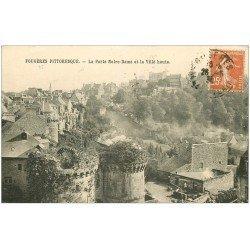 carte postale ancienne 35 FOUGERES. Porte Notre-Dame 1936