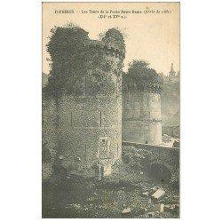 carte postale ancienne 35 FOUGERES. Porte Notre-Dame Tour