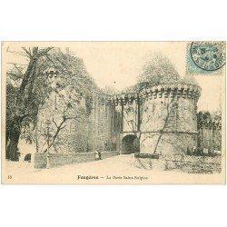 carte postale ancienne 35 FOUGERES. Porte Saint-Sulpice 1904