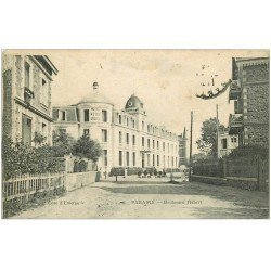 carte postale ancienne 35 PARAME. Boulevard Hébert. Tampon Hôpital 1916