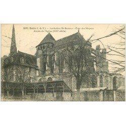 carte postale ancienne 35 REDON. Cour des Moyens Institution St-Sauveur 1923