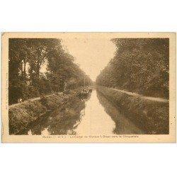 carte postale ancienne 35 REDON. Péniches Canal vers Gicquelais