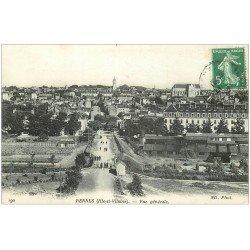 carte postale ancienne 35 RENNES. 1916 Vue générale