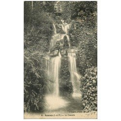 carte postale ancienne 35 RENNES. Cascade 1928 Passerelle Enfants
