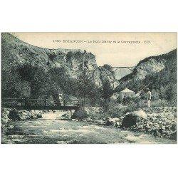 carte postale ancienne 05 BRIANCON. Pont Baldy et Cerveyrette