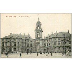 carte postale ancienne 35 RENNES. Hôtel de Ville 10