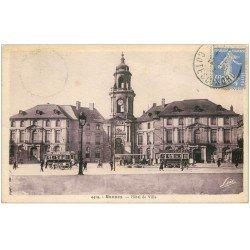 carte postale ancienne 35 RENNES. Hôtel de Ville 1921