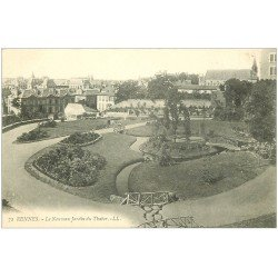 carte postale ancienne 35 RENNES. Jardin du Thabor