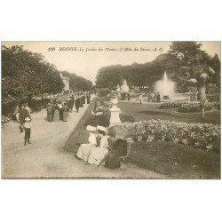 carte postale ancienne 35 RENNES. Jardin Plantes 1924