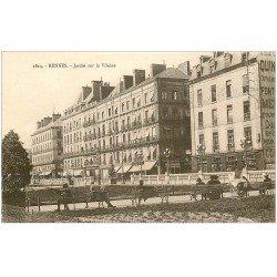 carte postale ancienne 35 RENNES. Jardin sur Vilaine