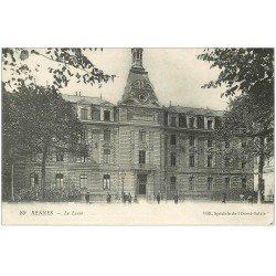 carte postale ancienne 35 RENNES. Lycée 1918