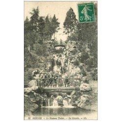 carte postale ancienne 35 RENNES. Nouveau Thabor Cascade 1913