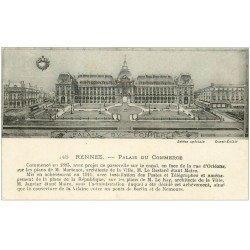 carte postale ancienne 35 RENNES. Palais Commerce 1918