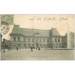 carte postale ancienne 35 RENNES. Palais de Justice 1906