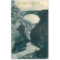 carte postale ancienne 05 BRIANCON. Pont d'Asfeld sur la Rurance