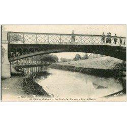carte postale ancienne 35 RENNES. Pont Saint-Martin 1919