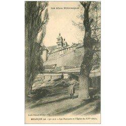 carte postale ancienne 05 BRIANCON. Remparts et Eglise
