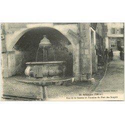 carte postale ancienne 05 BRIANCON. Rue de la Caserne Fontaine du Pont des Soupirs