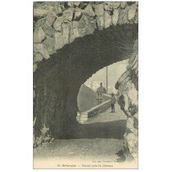carte postale ancienne 05 BRIANCON. Tunnel près du Château