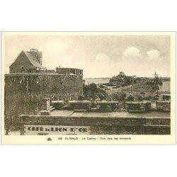 carte postale ancienne 35 SAINT-MALO. Café du Lion d'Or et Casino