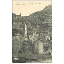 carte postale ancienne 05 BRIANCON. Ville la plus élevée d'Europe