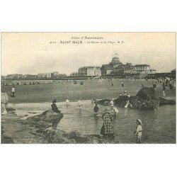 carte postale ancienne 35 SAINT-MALO. Casino Plage 1921