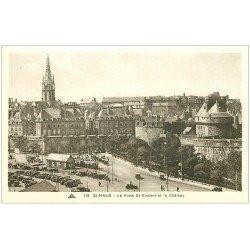 carte postale ancienne 35 SAINT-MALO. Château et Porte Saint-Vincent