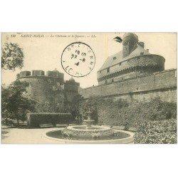 carte postale ancienne 35 SAINT-MALO. Château Square 1914