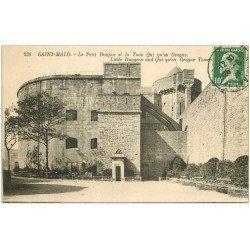 carte postale ancienne 35 SAINT-MALO. Donjon Tour 1924