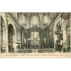 carte postale ancienne 35 SAINT-MALO. Eglise 1923