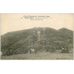 carte postale ancienne 35 SAINT-MALO. Escalier Grand Bé