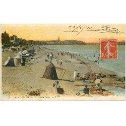 carte postale ancienne 35 SAINT-MALO. Grande Grève 1914