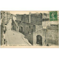 carte postale ancienne 35 SAINT-MALO. Grande Porte 1923