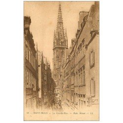 carte postale ancienne 35 SAINT-MALO. Grande Rue 1927