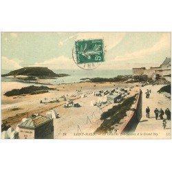 carte postale ancienne 35 SAINT-MALO. Grève Bon-Secours Grand Bey 1912