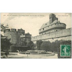 carte postale ancienne 35 SAINT-MALO. Jardin Public 1908