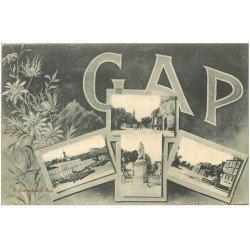 carte postale ancienne 05 GAP. Multivues 1906