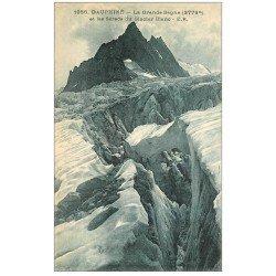 carte postale ancienne 05 La Grande Sagne et Séracs du Glacier Blanc