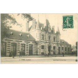 carte postale ancienne 35 VITRE. La Gare 1909