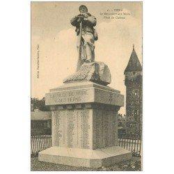 carte postale ancienne 35 VITRE. Monument aux Morts Place Château 1929