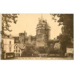 carte postale ancienne 35 VITRE. Place Saint-Yves
