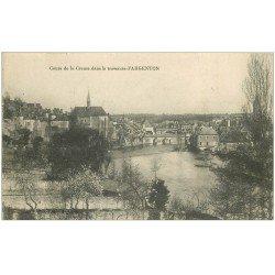carte postale ancienne 36 ARGENTON. Creuse. Tampon Militaire 1915