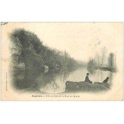 carte postale ancienne 36 ARGENTON. Ile Naïa Bout-du-Monde 1905