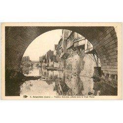 carte postale ancienne 36 ARGENTON. Sous Pont Vieux